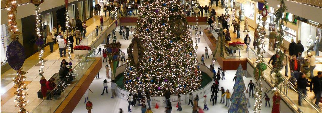 Houston Galleria Ice Rink At Christmas.