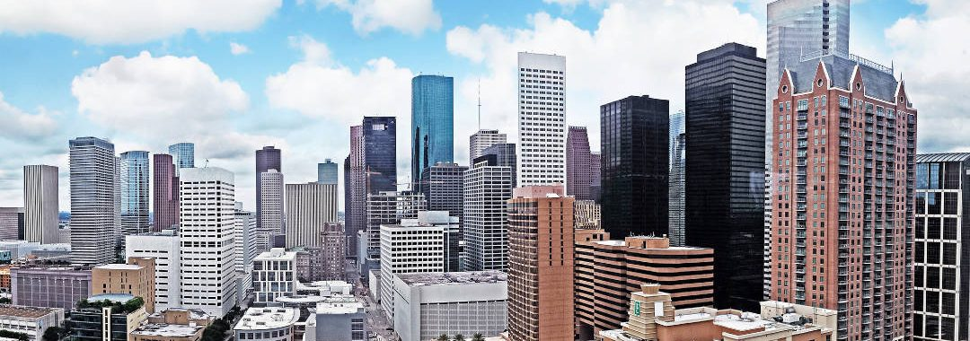 Panoramic Houston Downtown Skyline