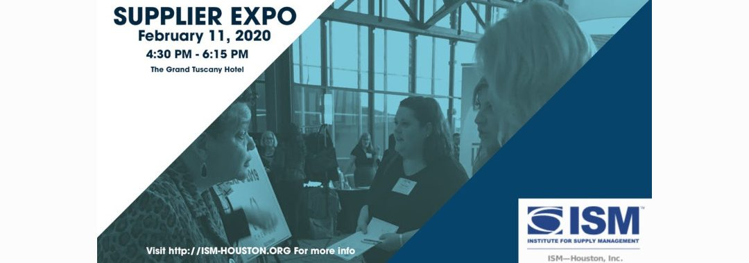 ISM-Houston 2020 Expo and Professional Dinner