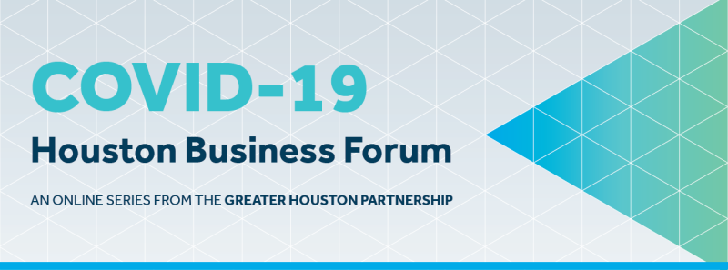 Covid-19 Online presentation by Patrick Jankowski, the Partnership's Senior Vice President of Research, will provide an economic update on the current state of Houston's economy during the COVID-19 outbreak.