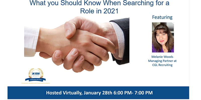 Virtual Job Search Seminar Featuring Melanie Woods Managing Partner at CGL Recruiting.